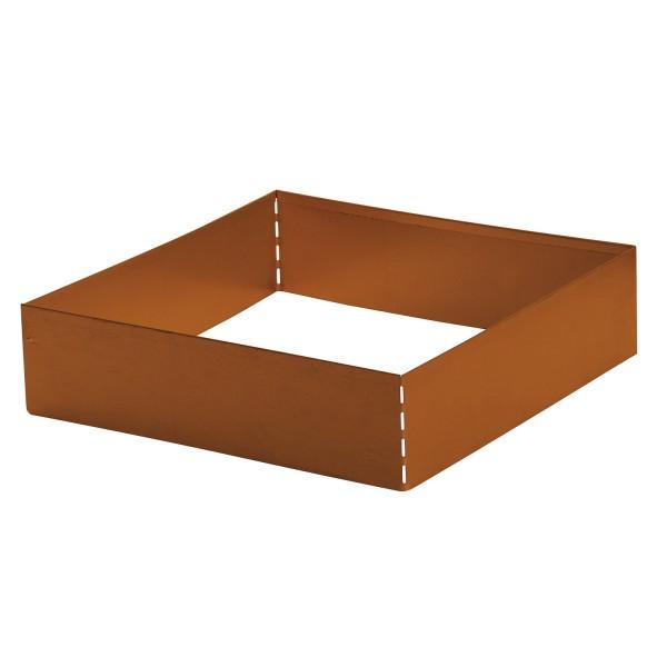 bellissa Rasenkante Square Corten, quadratisch 50x50 cm, H13 cm