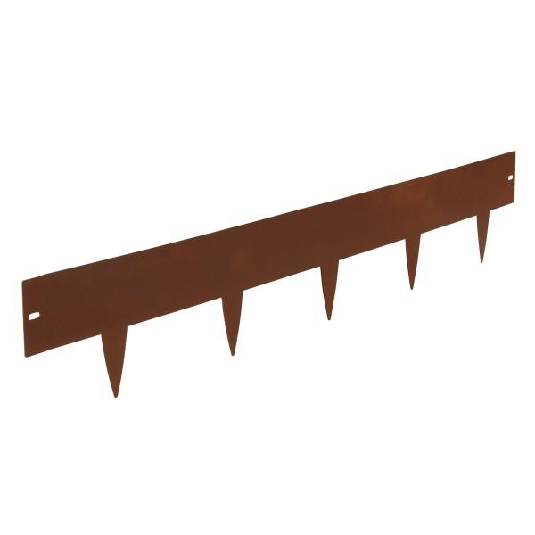 bellissa Rasenkante spina 2er Set Metall corten 103x16 cm, Nutzlänge 2x 100cm