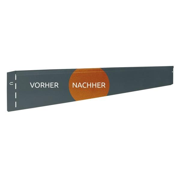"""GartenAZ Rasenkante """"rostoptik"""" 118x13 cm, Nutzlänge 115 cm"""