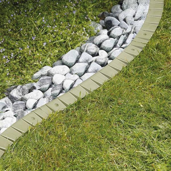 bellissa Rasenkante comfort Kunststoff ohne Rand, befahrbar, flexibel, Länge 50 cm, H11 cm
