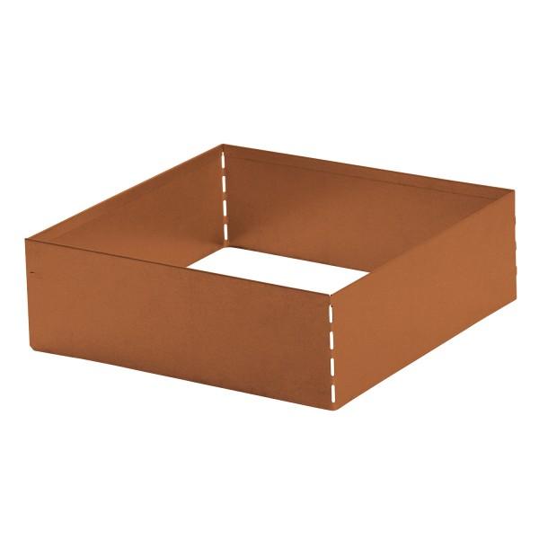 bellissa Rasenkante Square Corten, quadratisch 40x40 cm, H13 cm