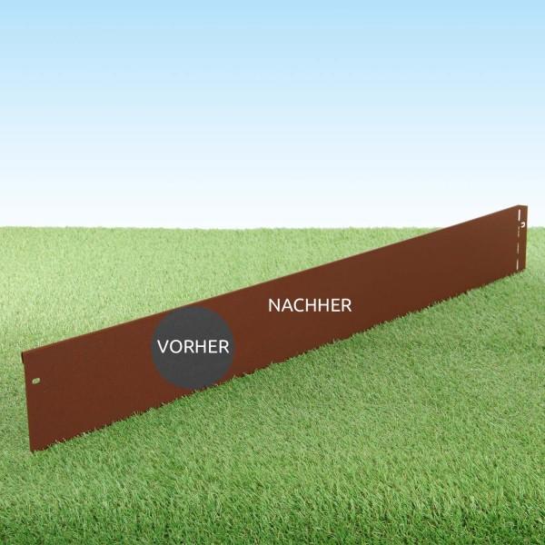GartenAZ Metall Rasenkante corten 103x13 cm, Nutzlänge 100 cm