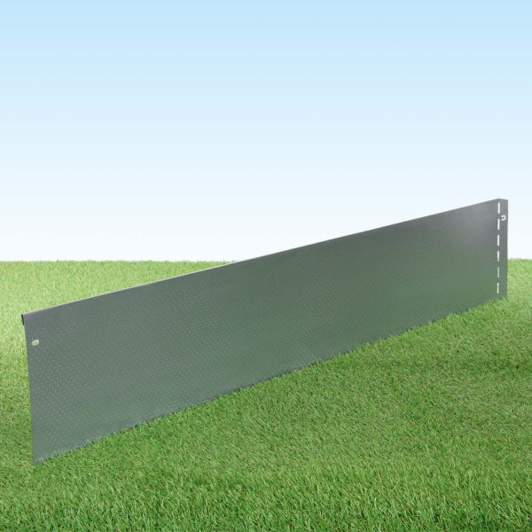 GartenAZ Metall Rasenkante verzinkt Perlenstruktur 103x20 cm, Nutzlänge 100 cm